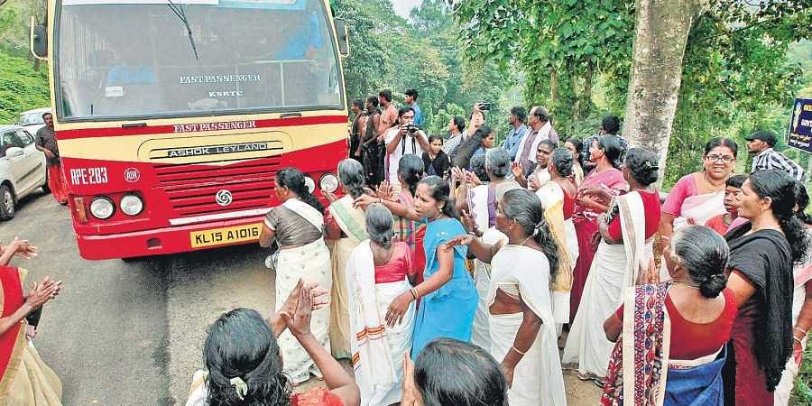 Sabarimala protesters force Andhra woman to back down