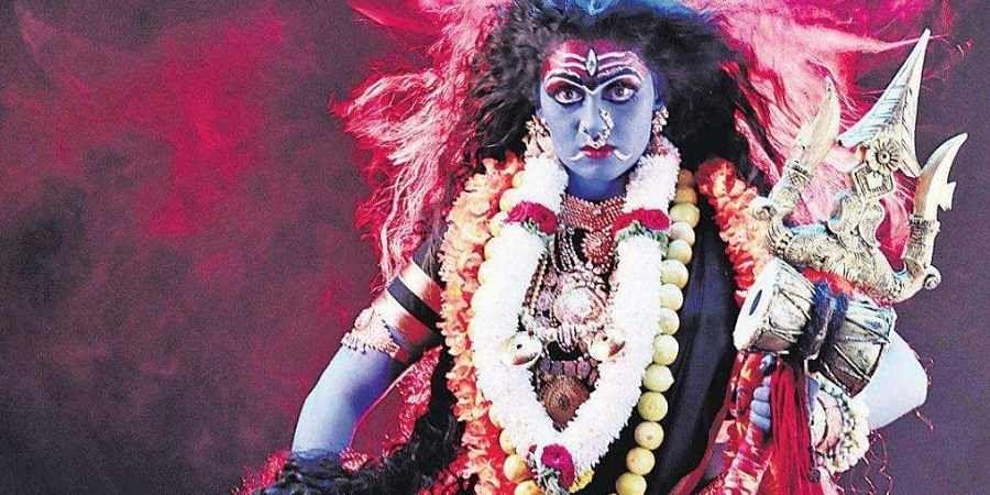 Kali avatar for Radhika Kumaraswamy in Bhairadevi- The New Indian