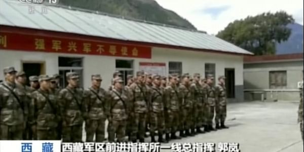 In this image from video footage run on Thursday, Oct. 18, 2018, by China's CCTV via AP Video, emergency response team prepare to deploy after a landslide formed a barrier lake on Yarlung Tsangpo in Tibet  | AP