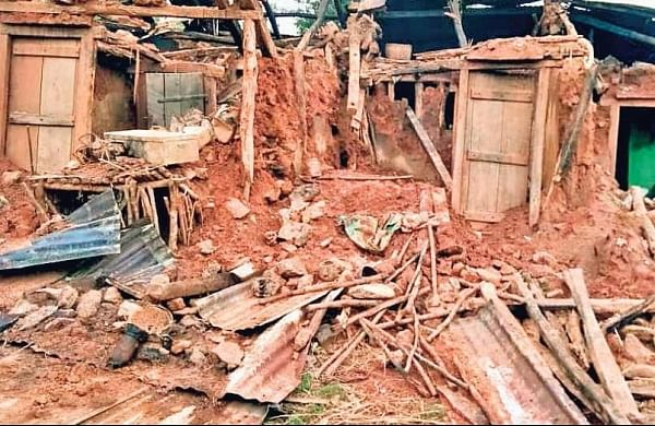 The houses damaged by cyclone Titli in Ganjam district of Odisha (Photo | EPS)