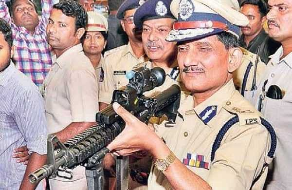 DGP RP Thakur during an open house as part of the Police Commemoration Week celebrations at AR Grounds in Vijayawada on Friday   Express