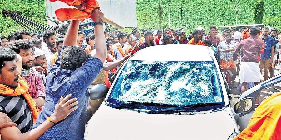Image result for sabarimala strike