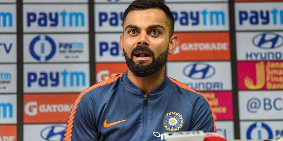 Indian cricket team captain Virat Kohli addresses a pre-match press conference ahead of their first One Day International cricket match against West Indies at ACA Stadium in Guwahati. (Photo | PTI)