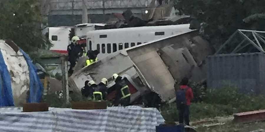 Taiwan rain derailment