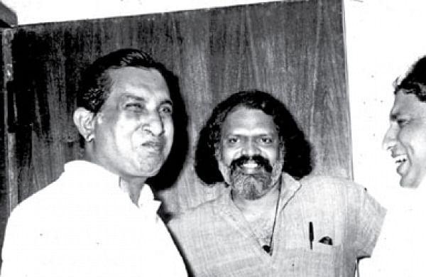 (From left): Natarajan, G Aravindan, Nedumudi Venu and Jaganadhan: ENS Photo