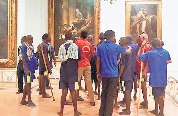 Beggars from Anand Ashram -- a shelter home for beggars visiting the museum on a day-out as  part of the Ashram's first anniversary celebrations at Chanchalguda  Central Prison. |Express Photo Services