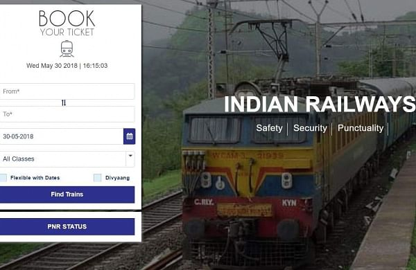 IRCTC web portal.