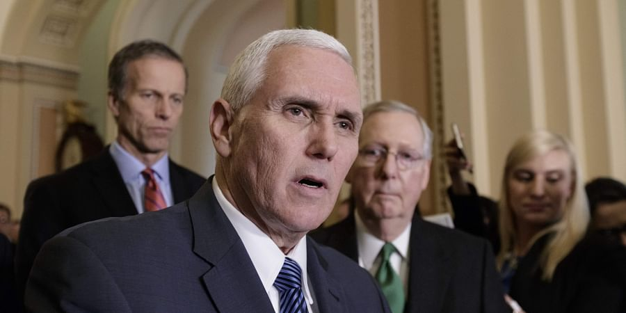 Vice President Mike Pence joins the Senate GOP leadership, as Republicans introduce their plan to repeal and replace the Affordable Care Act. (Photo | AP)
