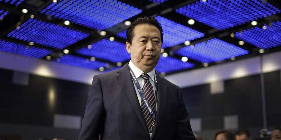 FILE - In this July 4, 2017 file photo, Interpol President, Meng Hongwei, walks toward the stage to deliver his opening address at the Interpol World congress in Singapore. (Photo | AP)