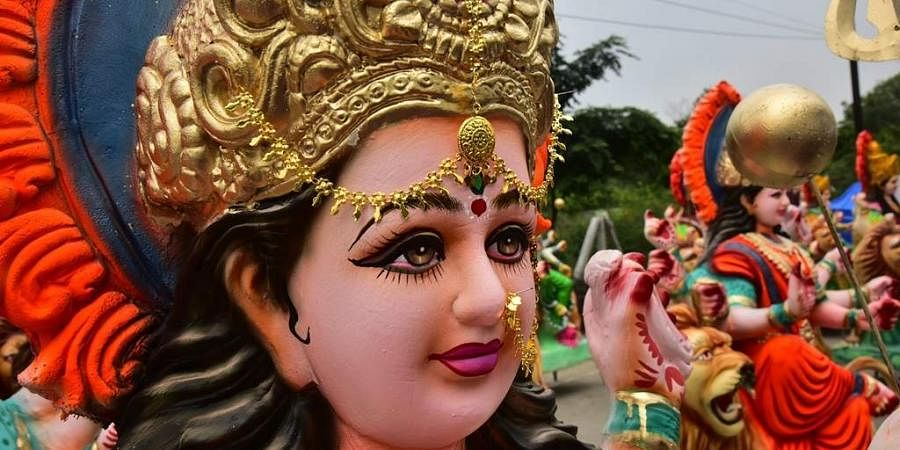 Durga puja street graffiti in Kolkata narrates sex workers' tale