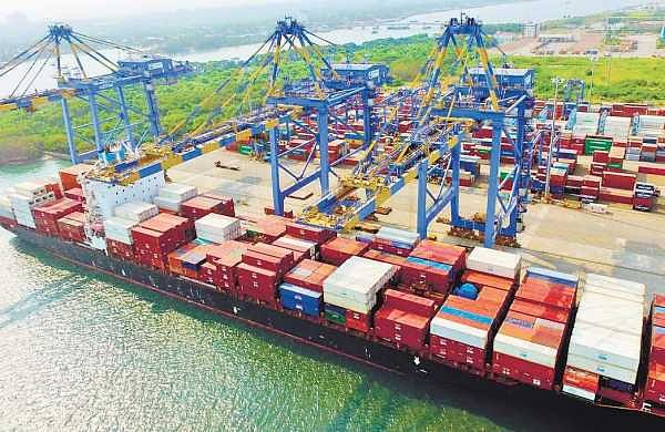 The consignment of rice, which arrived at the Vallarpadam terminal in container ship 'SSL Kochi', for public distribution in Kerala