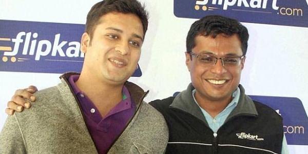 Co-founders of e-commerce platform Flipkart, Binny Bansal (L) and Sachin Bansal (R). (Photo | PTI)
