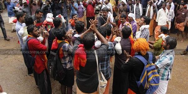 Lord Ayyappa devotees at Sabarimala | EPS