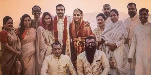 DeepVeer fans went crazy Friday after another photographof actors Deepika Padukone and Ranveer Singh's wedding was released today, this time courtesy Ranveer's stylist Nitash Gaurav. (Photo | Instagram)