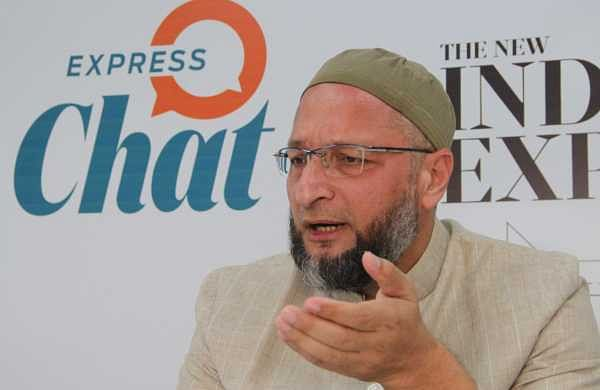 AIMIM chief Asaduddin Owaisi in an exclusive chat with The New Indian Express in Hyderabad on Thursday. (Photo | S Senbagapandiyan/EPS)