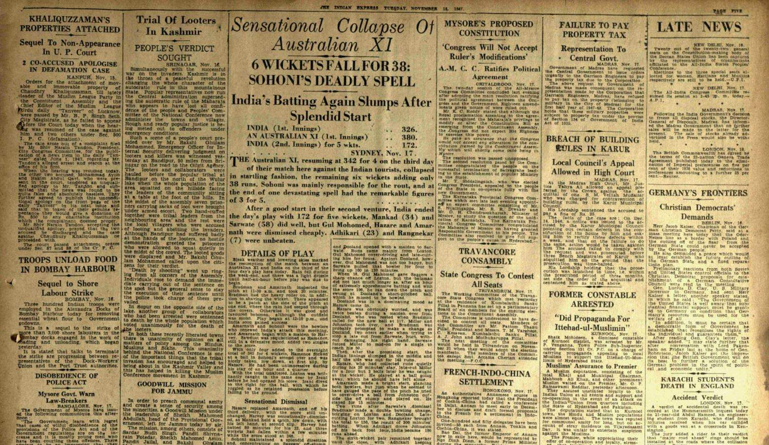 This Day That Year: Here's what made news on November 18