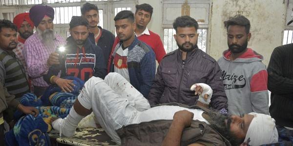 A man injured in a blast at Nirankari Bhawan, a prayer hall in nearby Adliwal village receives treatment at a hospital in Amritsar, India, Sunday, Nov.18, 2018. | AP