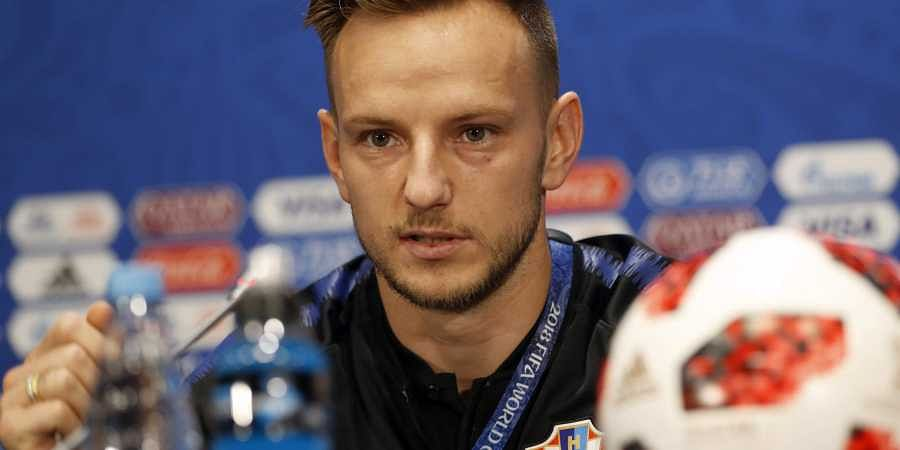 Croatia's Ivan Rakitic listens to a question at a press conference during the 2018 soccer World Cup in MMoscow, Russia. (Photo   AP)