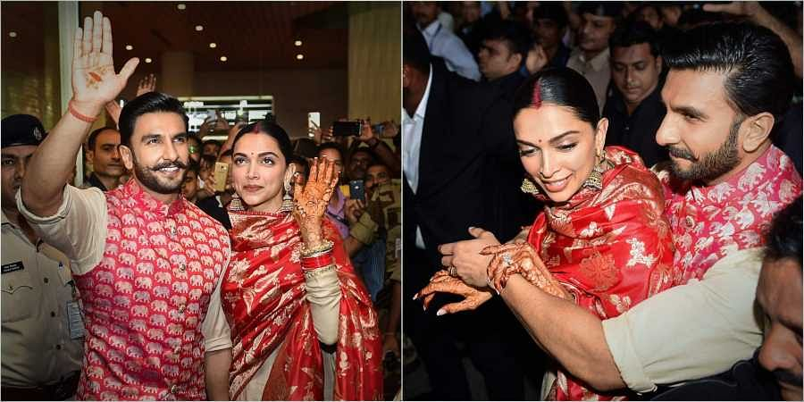 Deepika Padukone and Ranveer Singh back to Mumbai, see photos
