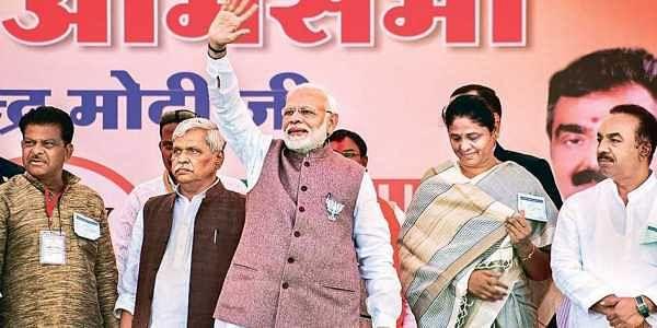Prime Minister Narendra Modi during an election rally in Chhindwara, Madhya Pradesh on Sunday |  PTI