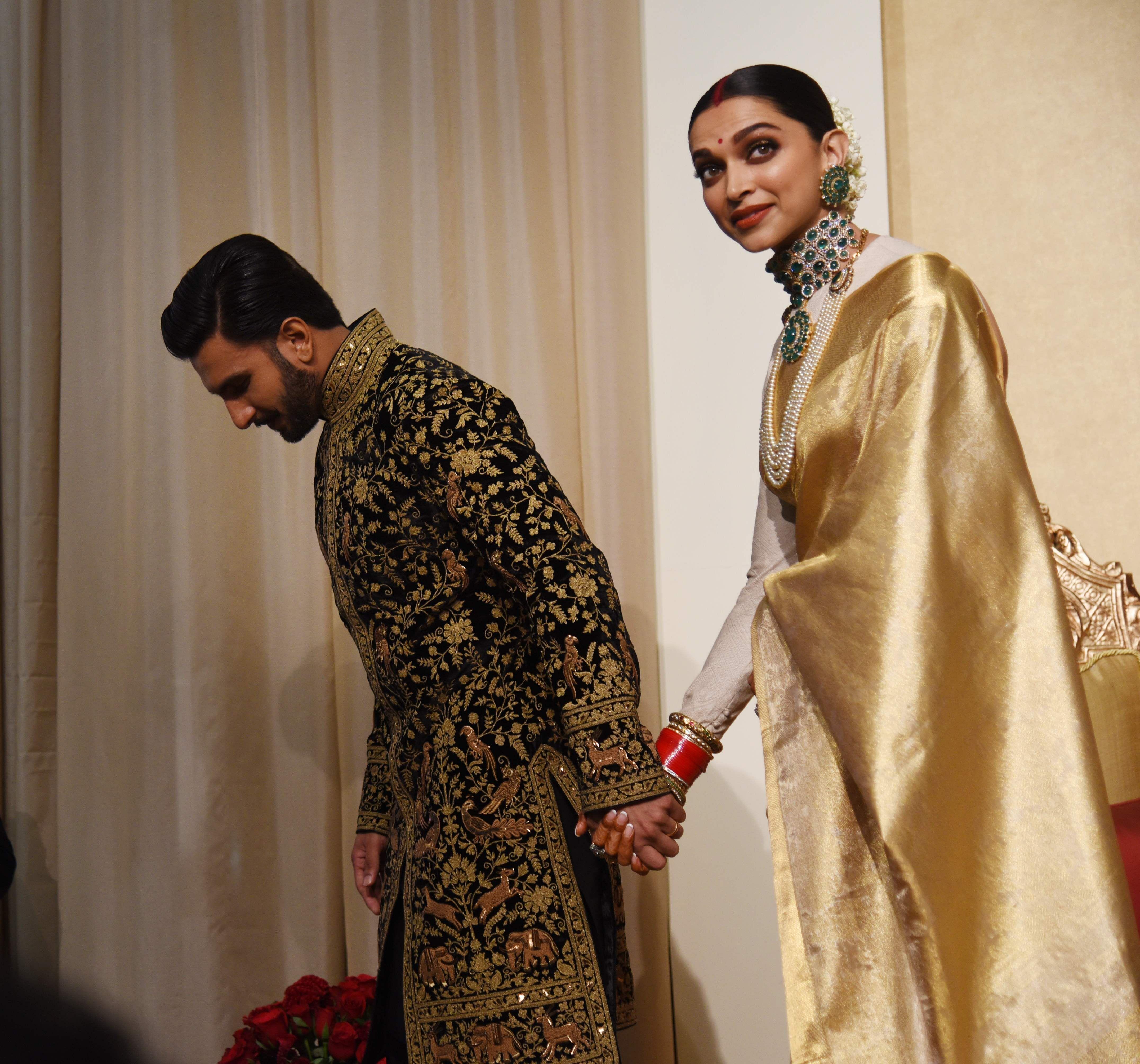 Newlyweds Ranveer And Deepika Host Their Wedding Reception