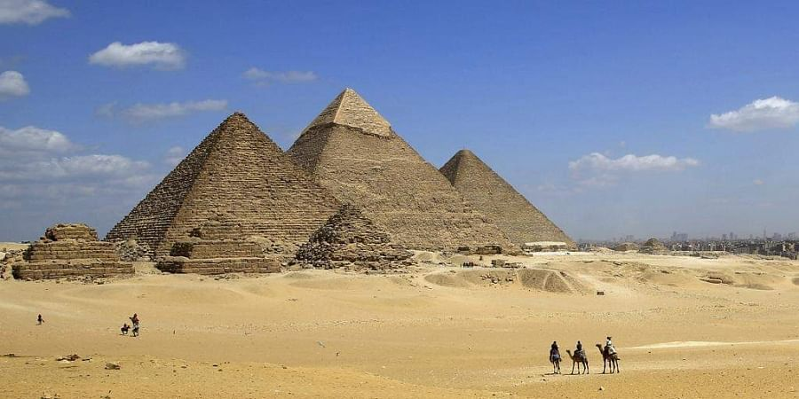 5e730ecc55b4 The Great Pyramid of Giza was called  Ikhet  which translated means  Glorious  light.  (Photo