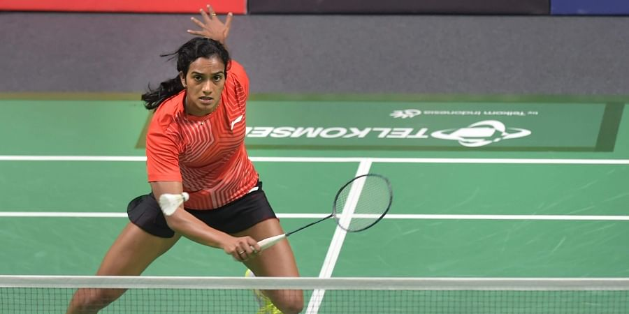 India's Pusarla V Sindhu plays against Chinese TPE player Tai Tzu Ying in the women's singles badminton final match at the 18th Asian Games in Jakarta. (Photo   PTI)