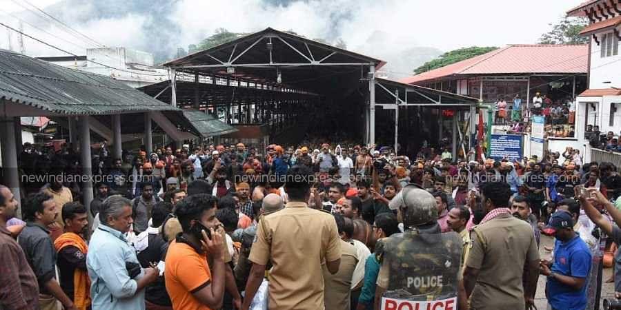 Sabarimala-women entry-protests