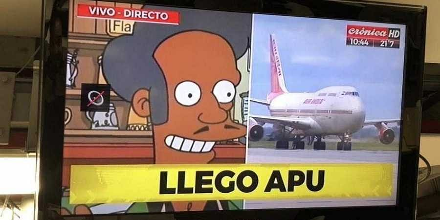 Modi's arrival at the G20 summit 'announced with Apu meme'