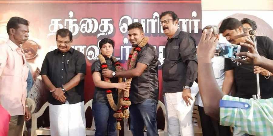 Social activist and crusader against caste killings, Kausalya married Parai musician Sakthi at the Thanthai Periyar Dravidar Kazhagam head office in Coimbatore'sGandhipuram on 9 December 2018. (Photo | EPS)
