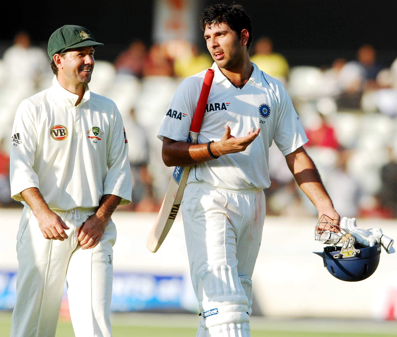 Yuvraj Singh and Australian counter-part Ricky Ponting