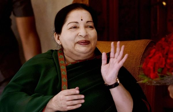 A file photo of late Tamil Nadu Chief Minister J Jayalalithaa (File | PTI)