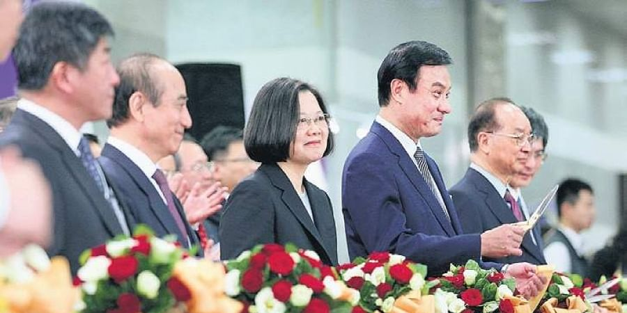 Tsai Ing-wen (middle), President of Taiwan at the convention (Photo | EPS)