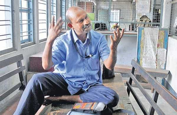 Conductor Sudheesh, 51, cannot hide his disappointment at being shown the door without prior notice. He has been with the KSRTC for the past 12 years  | A Sanesh | P6
