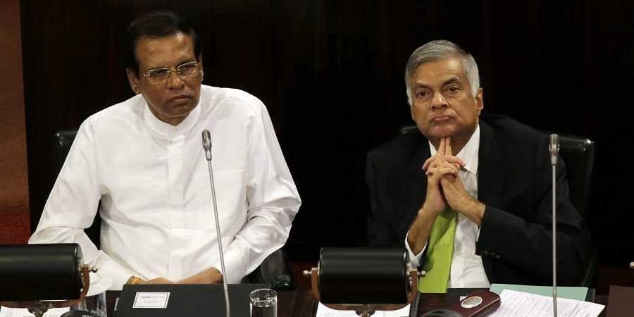 Sri Lankan President Maithripala Sirisena (L) and Prime Minister Ranil Wickremesinghe (File Photo   AP)