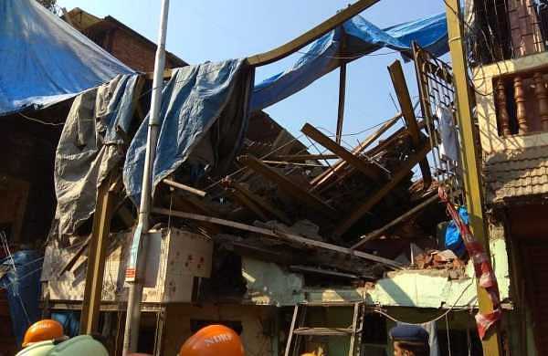 The structure was part of a chawl (tenement) of the Maharashtra Housing and Area Development Authority (Mhada). (Photo | ANI)