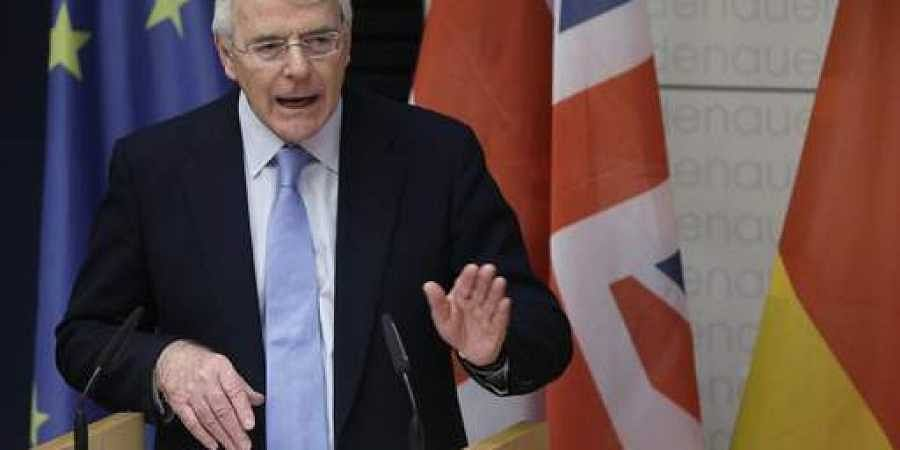 Britain's former Prime Minister Sir John Major