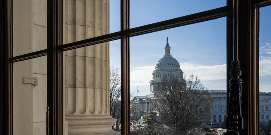 The Capitol Dome is seen from the Russell Senate Office Building in Washington (Photo | AP)