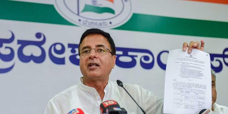 Congress spokesperson Randeep Surjewala