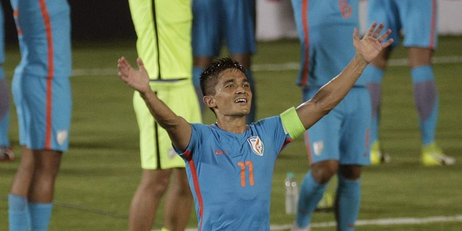 Indian forward Sunil Chhetri | File AP