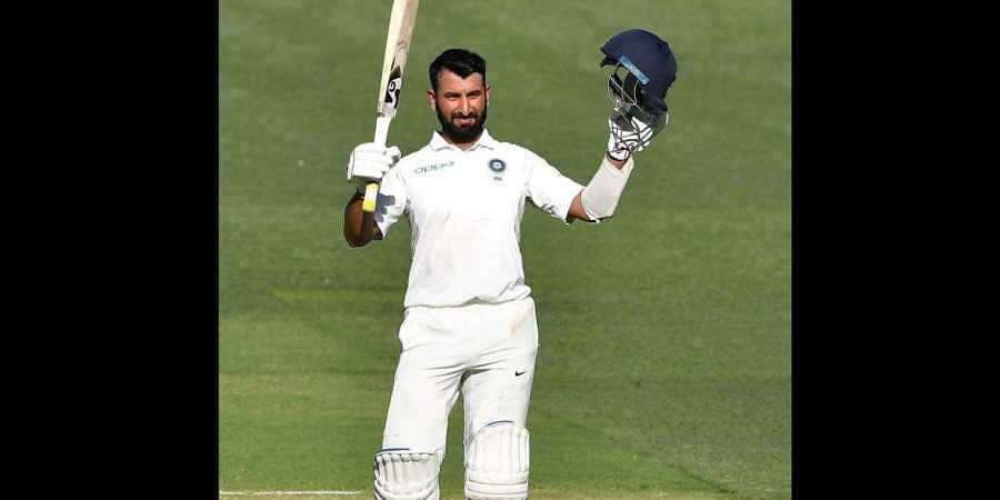 Cheteshwa Pujara on the first day of the 1st Test in Adelaide on 6 December 2018. (Photo | BCCI/ Twitter)