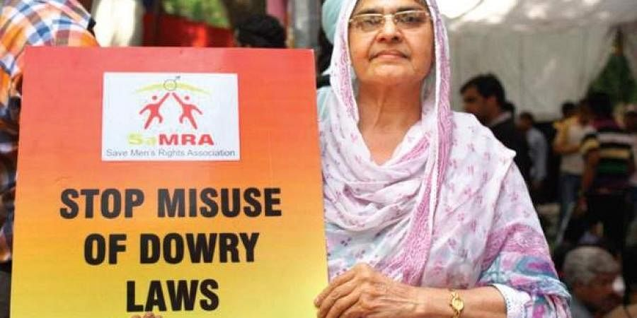 anti-Dowry protest