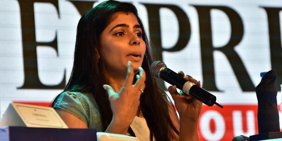 Singer, translator, dubbing artist and MeToo campaigner Chinmayi Sripaada. (Photo | EPS)