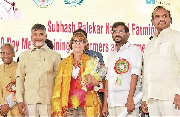 CM and other delegates at the 10-day ZBNF training programme in Guntur. | Express Photo Services