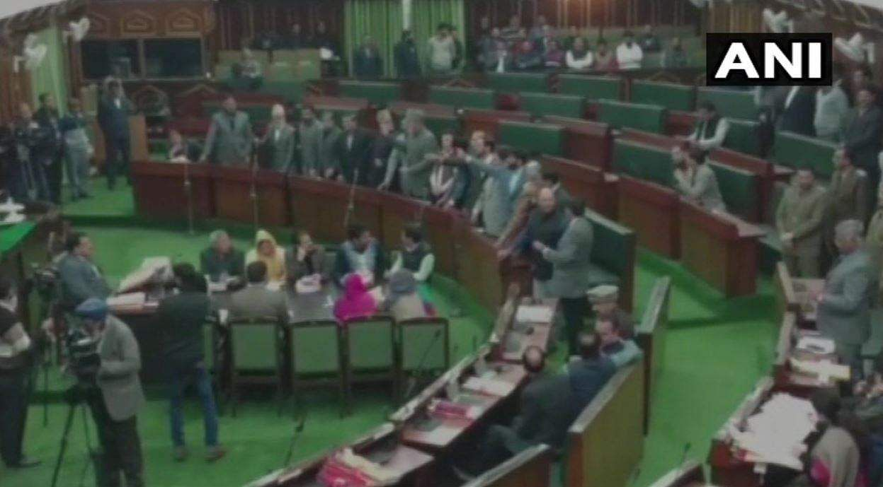 National Conference MLA Akbar Lone shouts 'Pakistan Zindabad' slogans in J&K Assembly