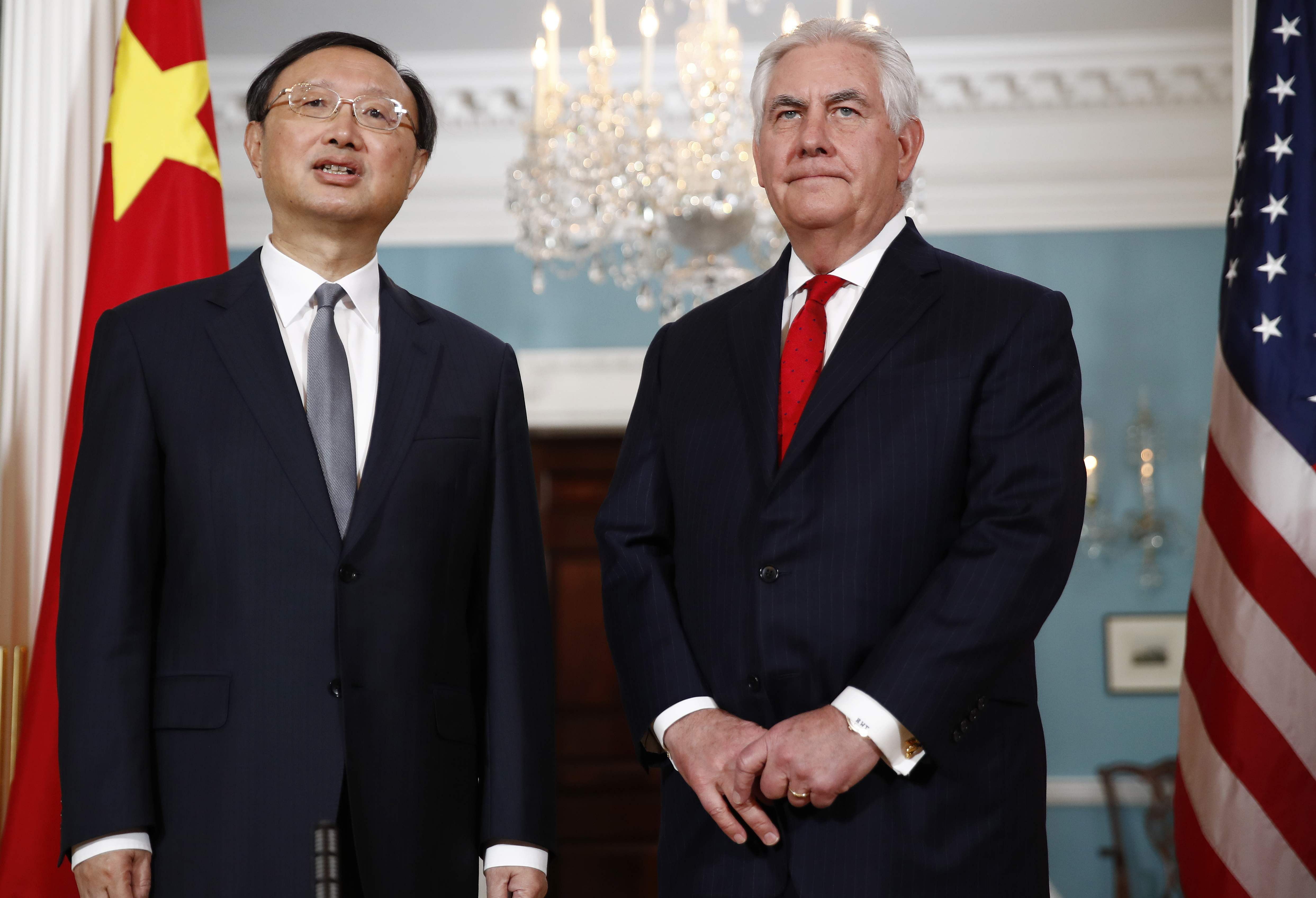 Chinese State Councilor Yang Jiechi meets with US Sec. of State Tillerson