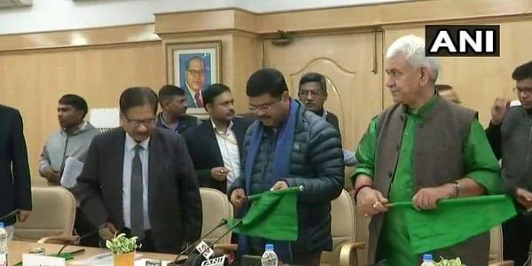 Union Ministers Dharmendra Pradhan and Manoj Sinha flagged off Bhubaneswar-New Delhi Rajdhani Express via video conferencing.