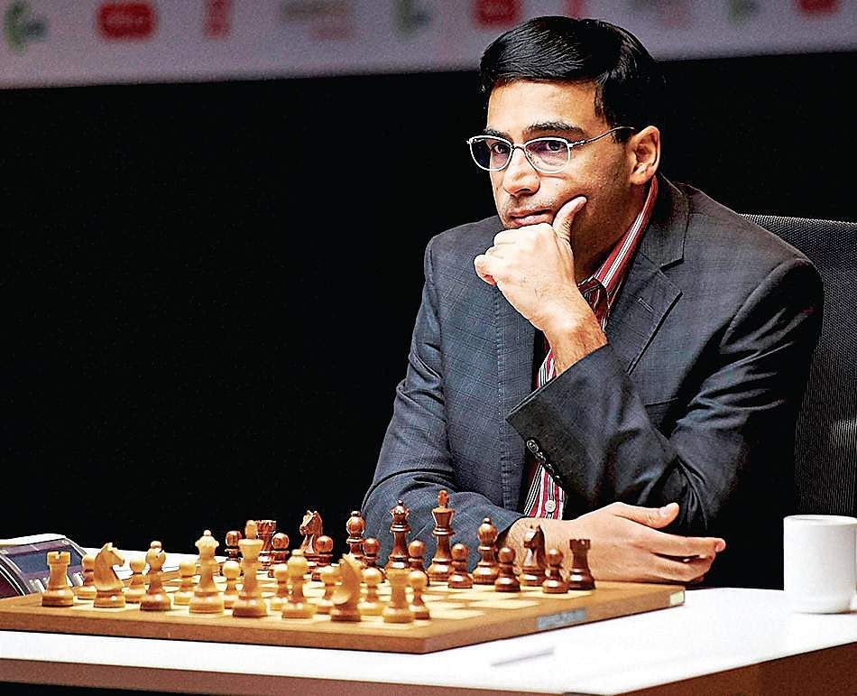 Viswanathan Anand Interacts With Blind Chess Players The