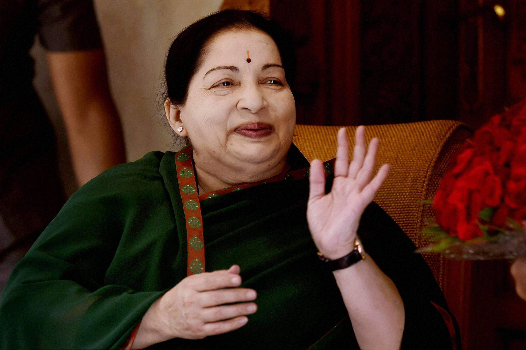 The late Tamil Nadu Chief Minister J Jayalalithaa