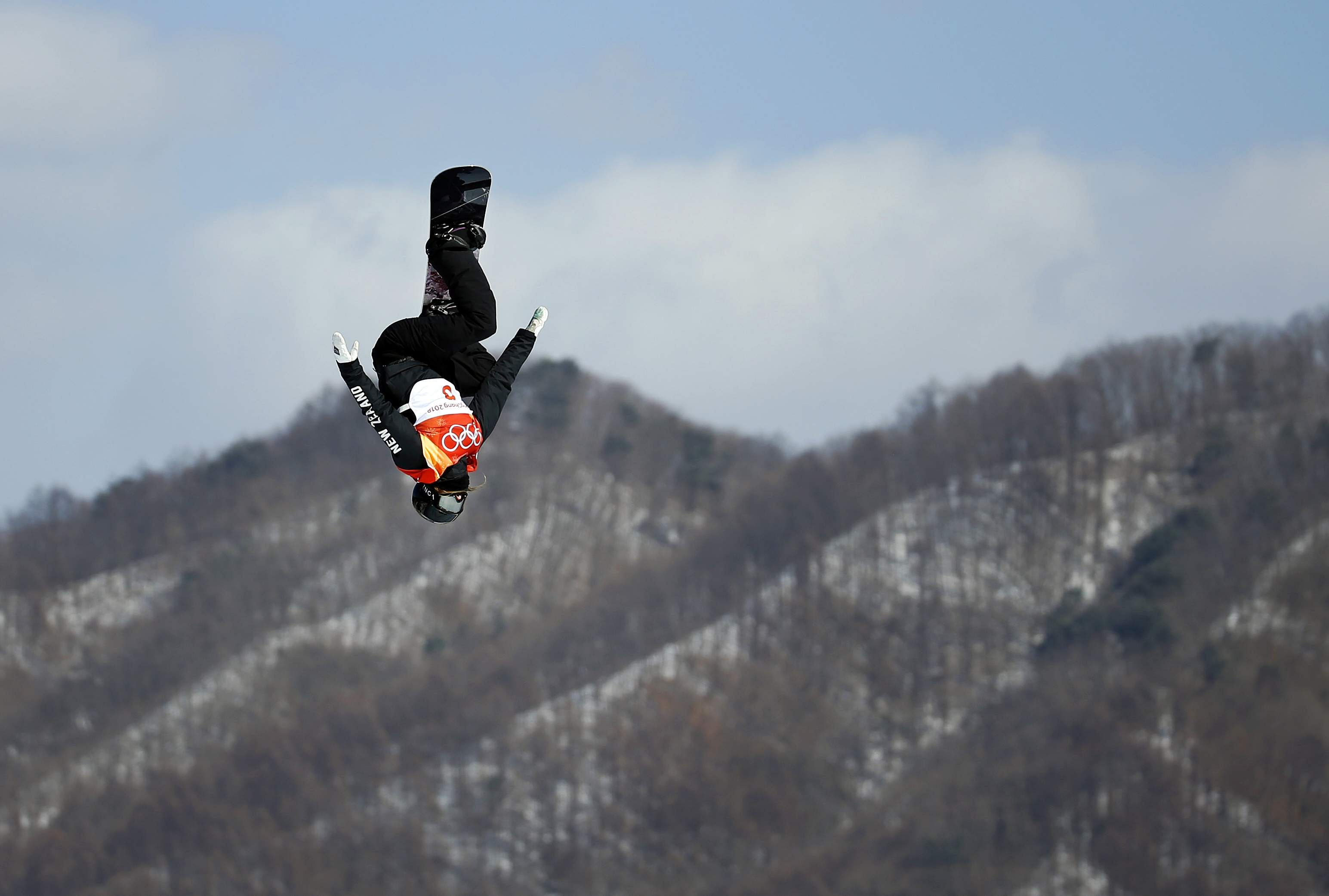 Zoi Sadowski Synnott, of New Zealand, runs the course during the women's slopestyle final during the 2018 Winter Olympics. (Photo | AP)